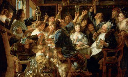 """Rey bebiendo"" (1640- 1645), de Jacob Jordaens"