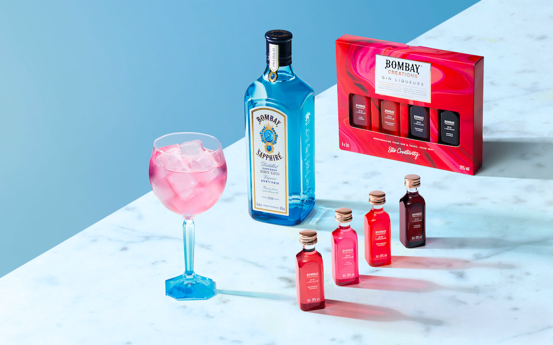 The Bombay Creations Gin Liqueurs pack
