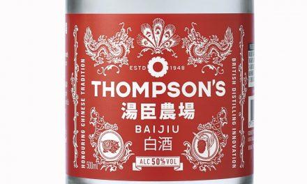 """Thompson, """"primer"""" baijiu hecho en el Reino Unido con Thompson's Baijiu"""
