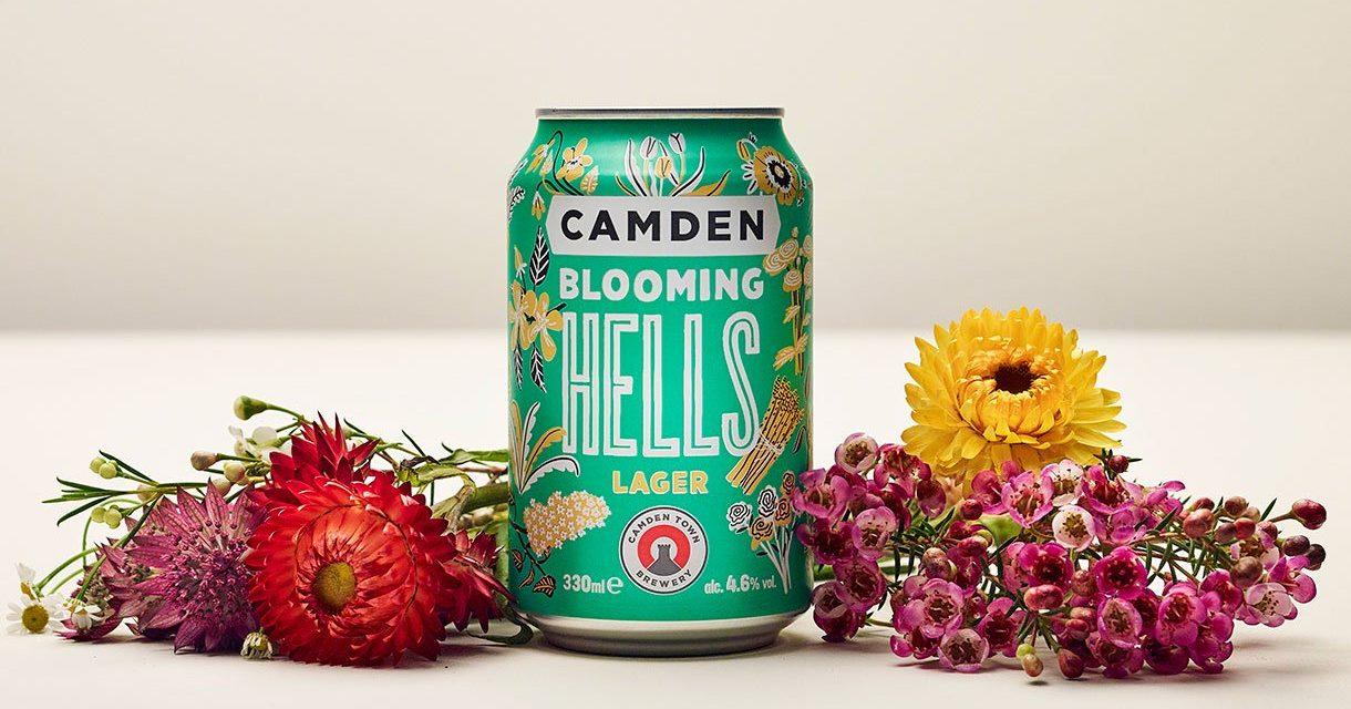 Blooming Hells lager, nueva cerveza de Camden Town inspirada en la primavera británica