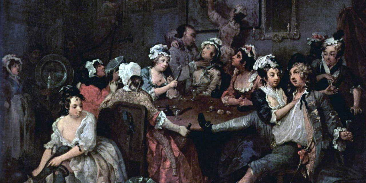 """""""La orgía"""" (1735), de William Hogarth"""