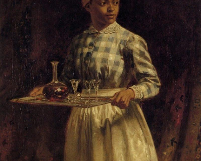 """Sherry, Sir?"" (1890), de Thomas Waterman Wood"