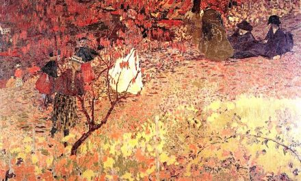 """""""Andando por el viñedo"""" (1897), de Édouard Vuillard"""