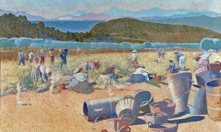 """""""La cosecha"""" (1891), de Henri-Edmond Cross"""