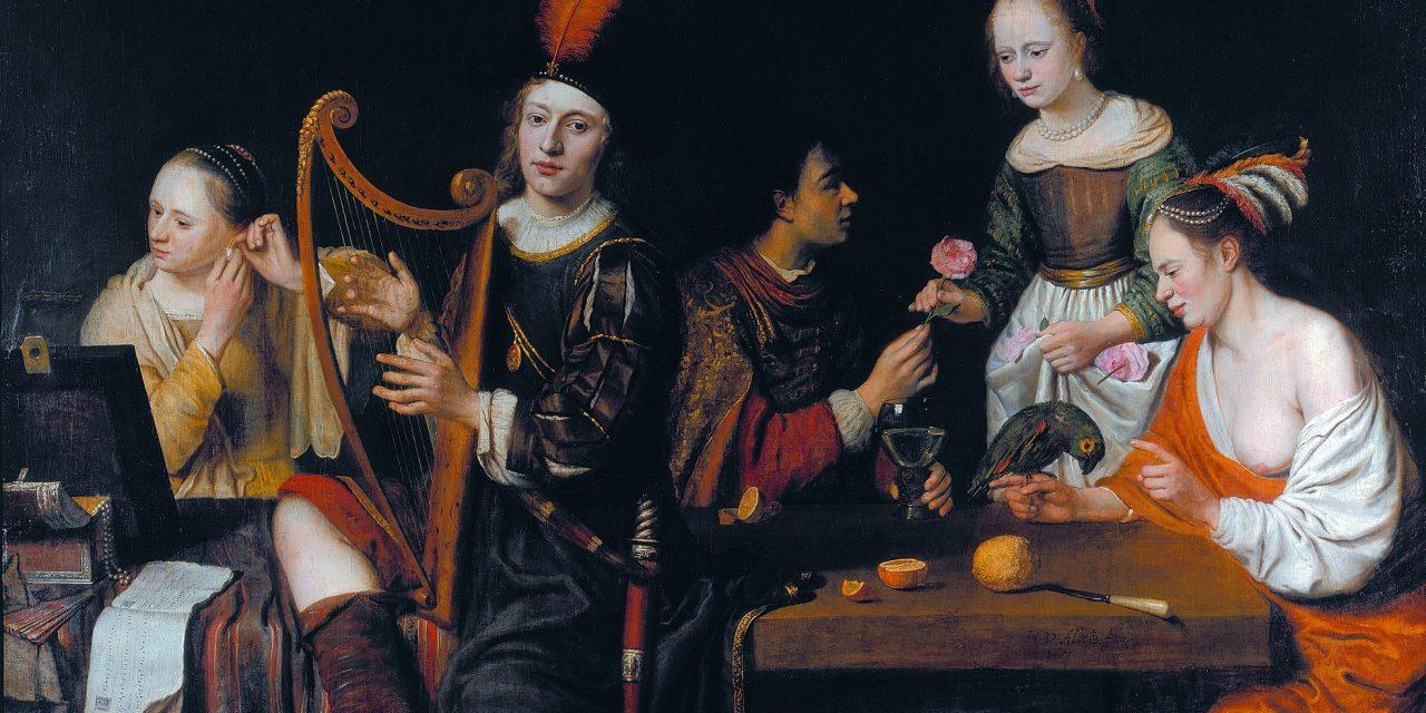 """""""Alegoría de los cinco sentidos"""" (1651), de Hermann van Aldewereld"""