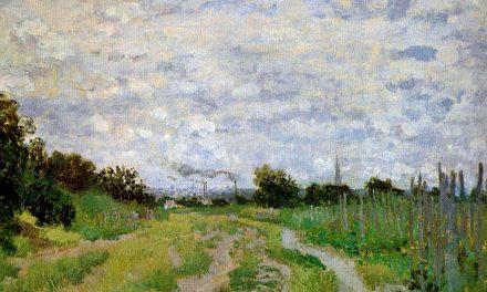 """""""Camino en los viñedos de Argenteuil"""" (1872), de Claude Monet"""