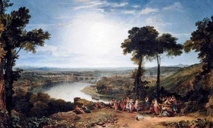 """Festival de la apertura de la cosecha en Macon, Francia"" (1803), de J. M. W. Turner"