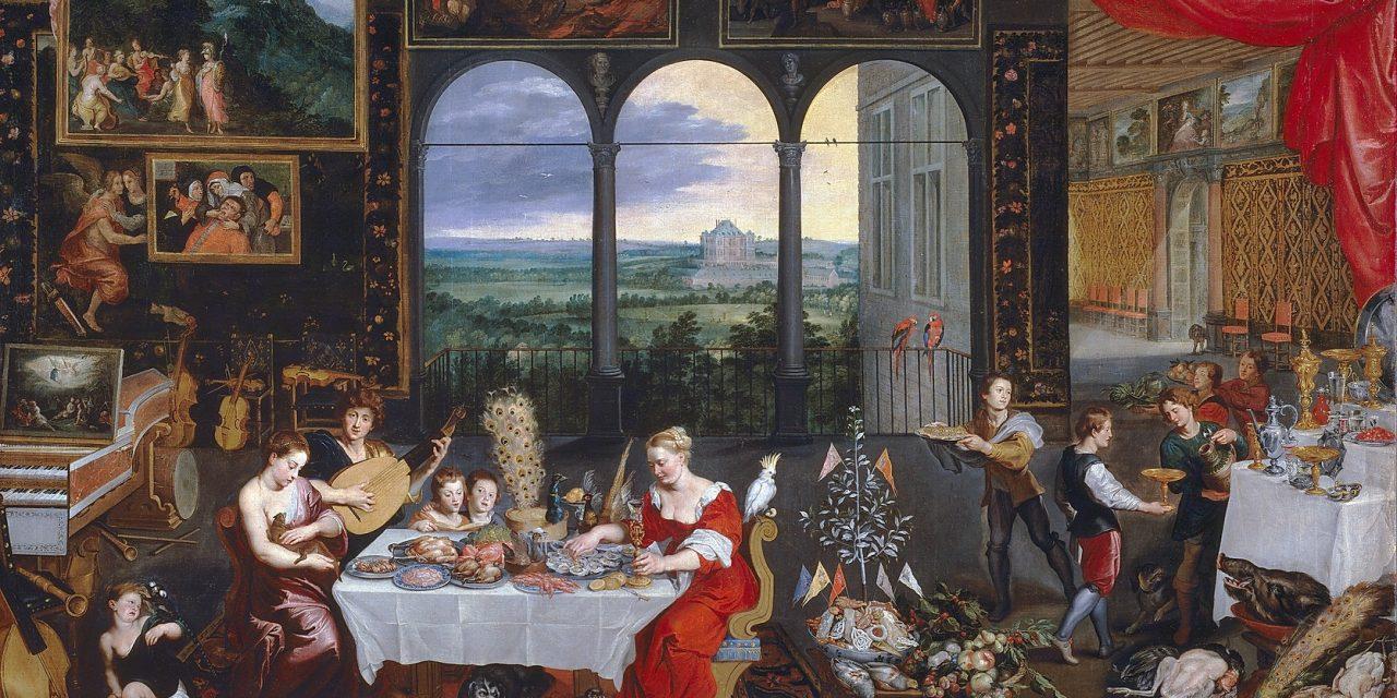 """""""Gusto, oído y tacto"""" (1620), de Jan Brueghel el Viejo"""