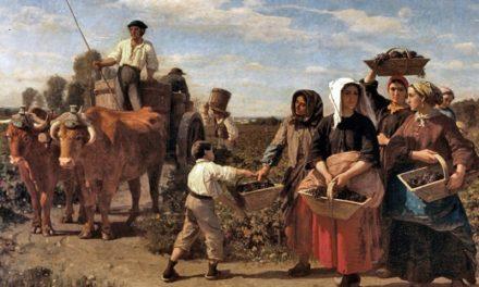 """La cosecha en el castillo de Lagrange"" (1864), de Jules Breton"