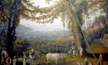 """Otoño, recogida de la uva en Soorento"" (1784), de Jacob Philipp Hackert"