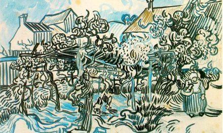 """""""Viejo viñedo con mujer campesina"""" (1890), de Vincent van Gogh"""