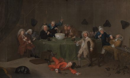 """""""Conversación moderna de medianoche"""" (1732), de William Hogarth"""