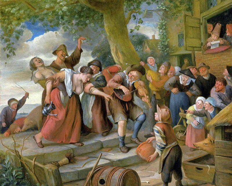 """""""Un cerdo pertenece a la pocilga"""" (1673), de Jan Havicksz Steen"""