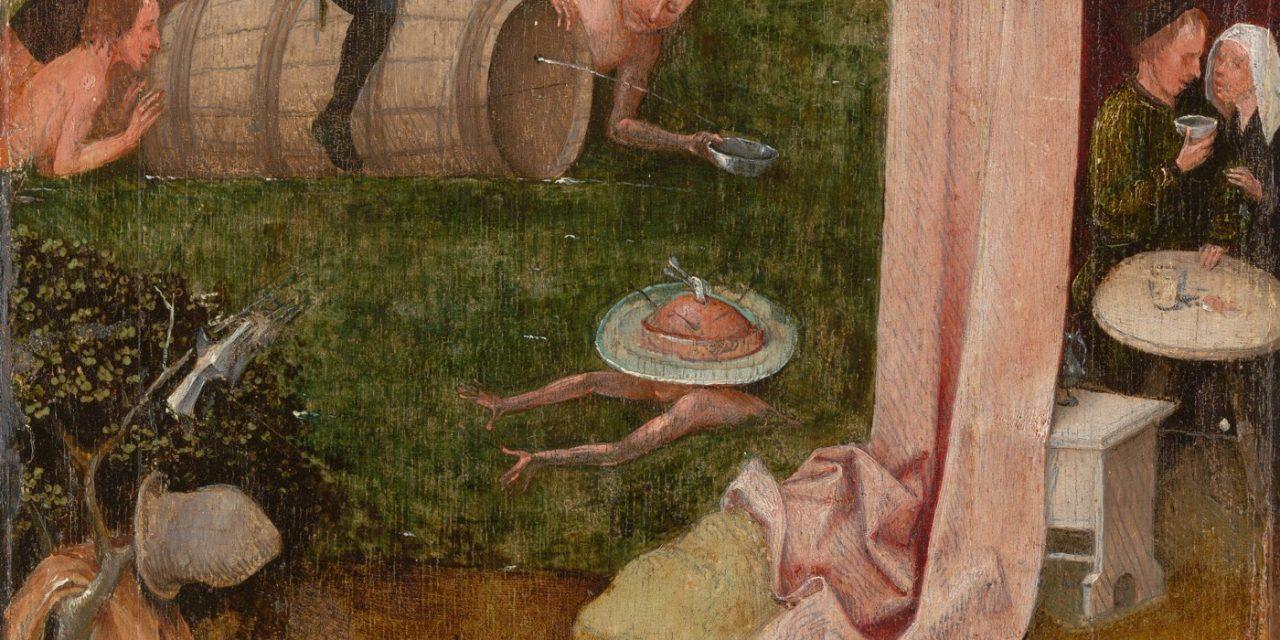 """""""Alegoría de la Gula y la Lujuria"""" (1500), de El Bosco"""