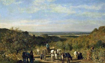 """""""Recogida de la uva en el Rio Sena"""" (1856), de Constant Troyon"""