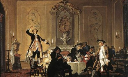 """""""Hubo una conmoción en la casa"""" (1740), de Cornelis Troost"""