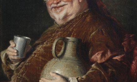 """""""Falstaff bebiendo vino"""" (1910), de Eduard von Grützner"""