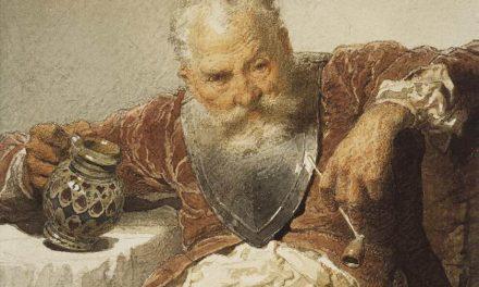 """""""Caballero con una jarra de vino y una pipa"""" (1873), de Mihály Zichy"""