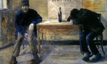 """""""Los bebedores"""" (1883), de James Ensor"""