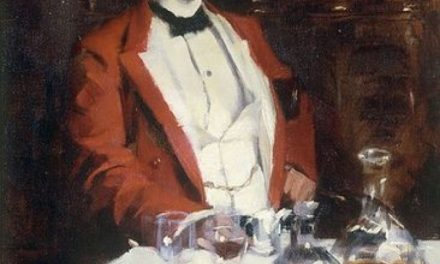 """Gentleman hunt dinner"" (1887), de James Jebusa Shannon"