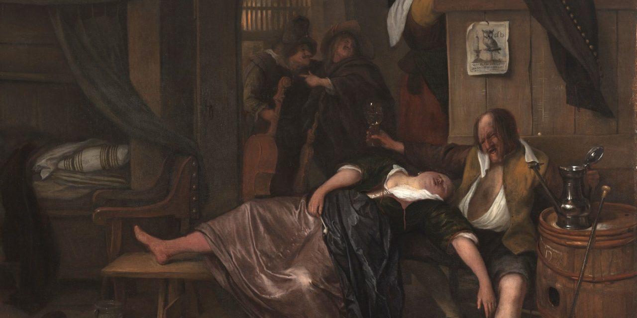 """""""La pareja de borrachos"""" (1655), de Jan Havicksz Steen"""