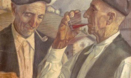 """""""Un trago de vino"""" (1957-1958), de Mauricio Flores Kaperotxipi"""