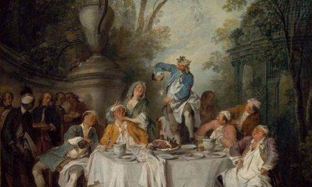 """""""Fiesta de almuerzo en un parque"""" (1735), de Nicolas Lancret"""