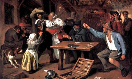 """""""Jugadores de cartas discutiendo"""" (1660), de Jan Havicksz Steen"""
