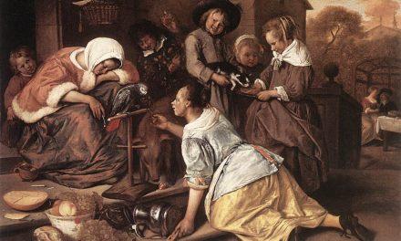"""""""Los efectos de la intemperancia"""" (1665), de Jan Havicksz Steen"""