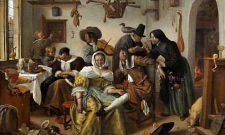 """""""En el lujo, cuidado"""" (1663), de Jan Havicksz Steen"""