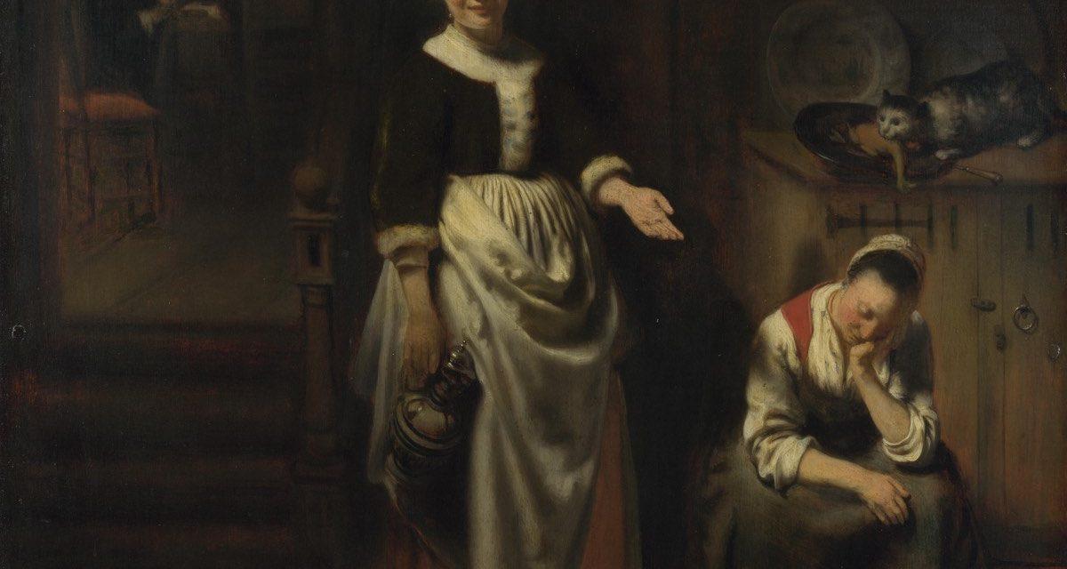 """""""El sirviente ocioso"""" (1655), de Nicolaes Maes"""