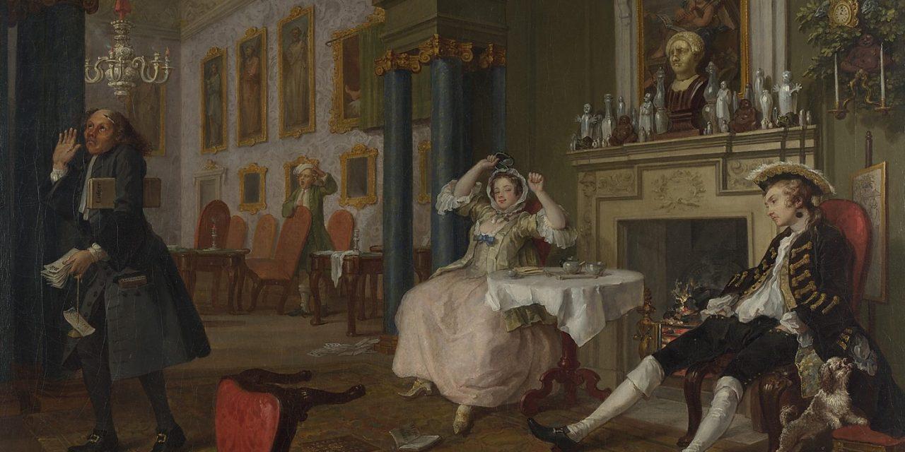 """""""Matrimonio"""" (1743), de William Hogarth"""