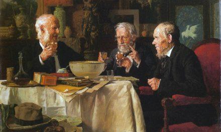 """""""El brindis"""" (1881), de Louis Moeller"""