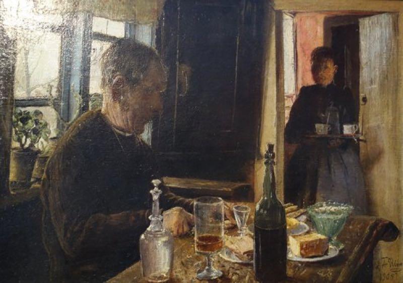 """Anciano en la mesa"" (1903), de Ejnar Nielsen"
