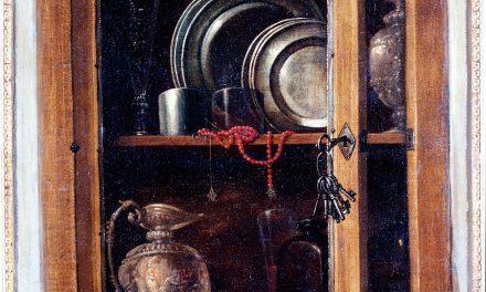 """""""Bodegón de una alacena con objetos"""" (1730), de Bernardo Lorente Germán"""