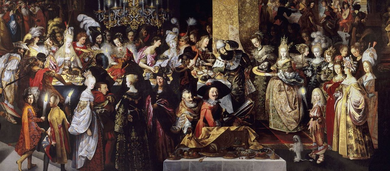 """""""Degollación de San Juan Bautista y banquete de Herodes"""" (1630-1643), de Bartholomäus Strobel el Joven"""