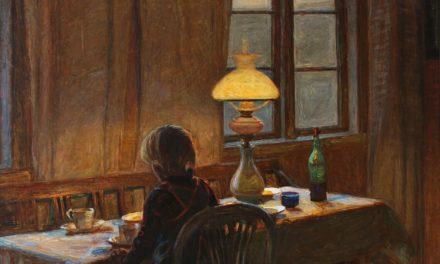 """""""El hijo del artista Lars Jacob (Zakker) sentado en la mesa del comedor"""" (1907), de Fritz Syberg"""