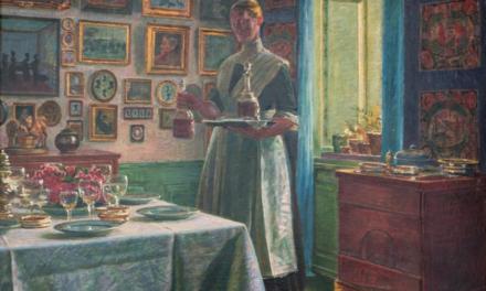 """En casa"" (1864), de Kristian Zahrtmann"