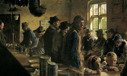 """""""En el avituallamiento cuando no hay pesca"""" (1882), de Peder Severin Krøyer"""