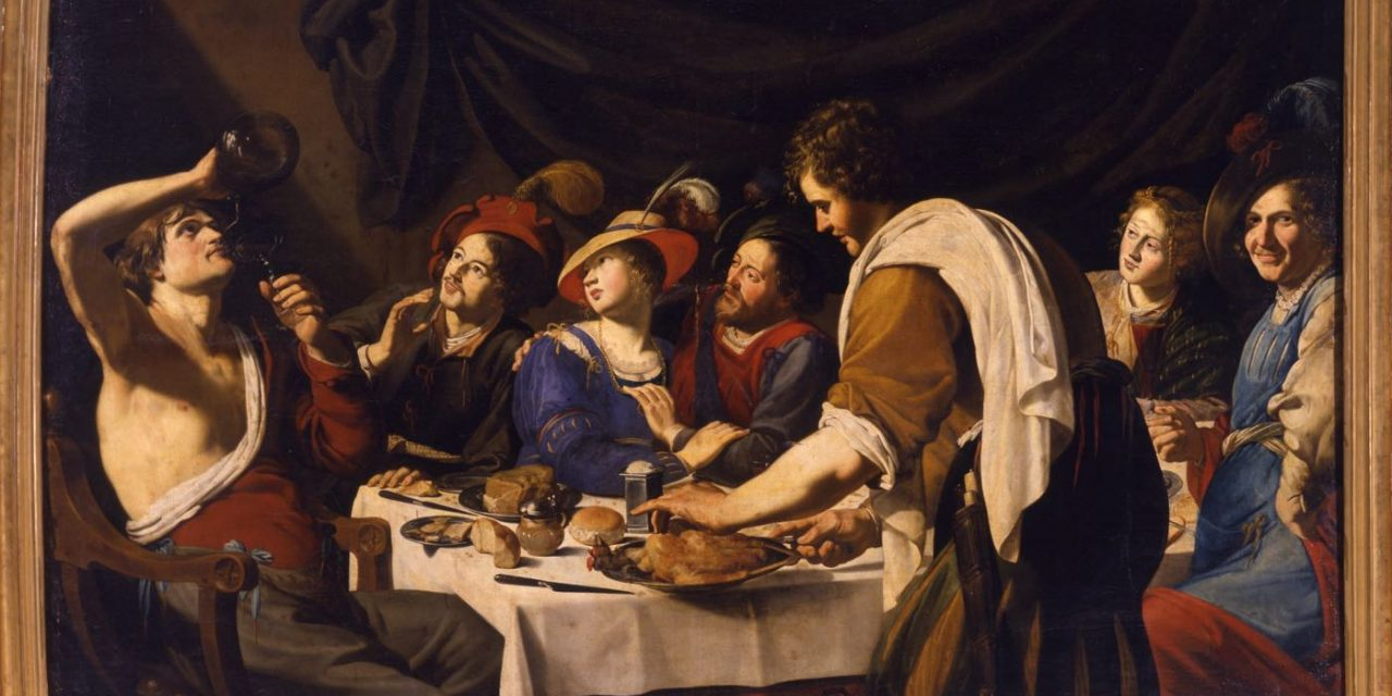 """Escena de banquete"" (1610), de Bartolomeo Manfredi"