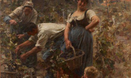 """""""La recogida de la uva"""" (1889), de Léon Lhermitte"""