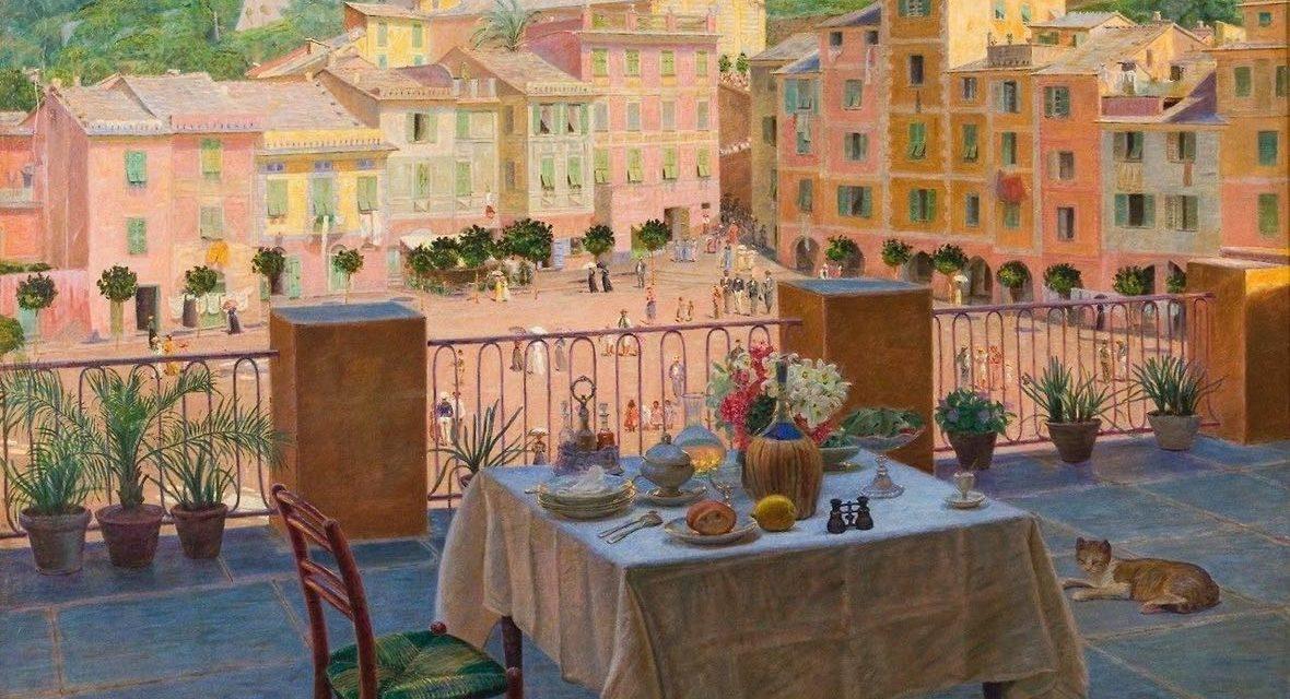 """""""Mi mesa de desayuno en Portofino"""" (1900), de Kristian Zahrtmann"""