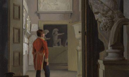"""""""La Sala de Antigüedades del Palacio de Charlottenborg, Copenhague"""" (1830), de Adam August Müller"""
