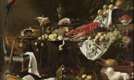 """""""Bodegón de banquete"""" (1644), de Adrian van Utrecht"""