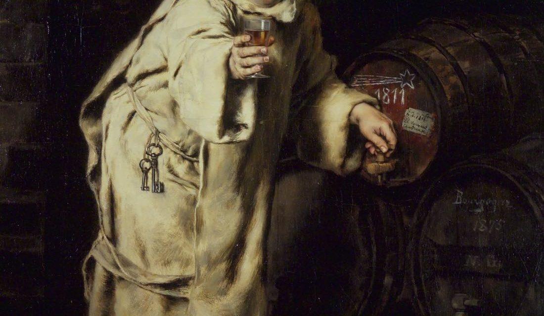 """Monje probando vino"" (1886), de Antonio Casanova y Estorach"