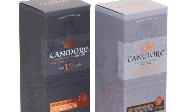 Canmore Whisky tiene un nuevo aspecto gracias a Saxon Packaging