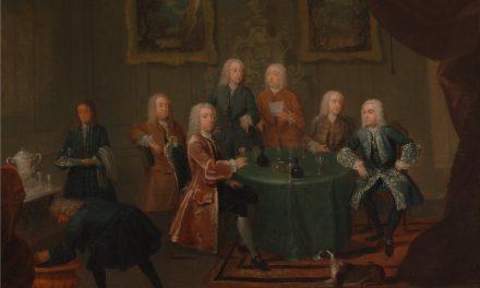 """""""Los hermanos Clarke tomando vino con otros caballeros"""" (1730-1735), de Gawen Hamilton"""