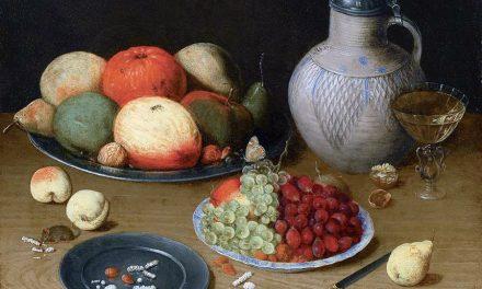 """""""Bodegón con uvas, manzana y jarra"""" (siglo XVII), de Georg Flegel"""