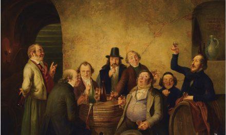 """Cata de vinos"" (1843), de Johann Peter Hasenclever"