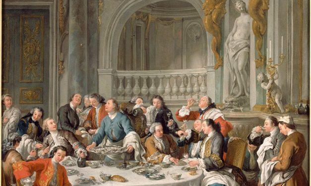 """""""Comiendo ostras"""" (1735), de Jean-François de Troy"""